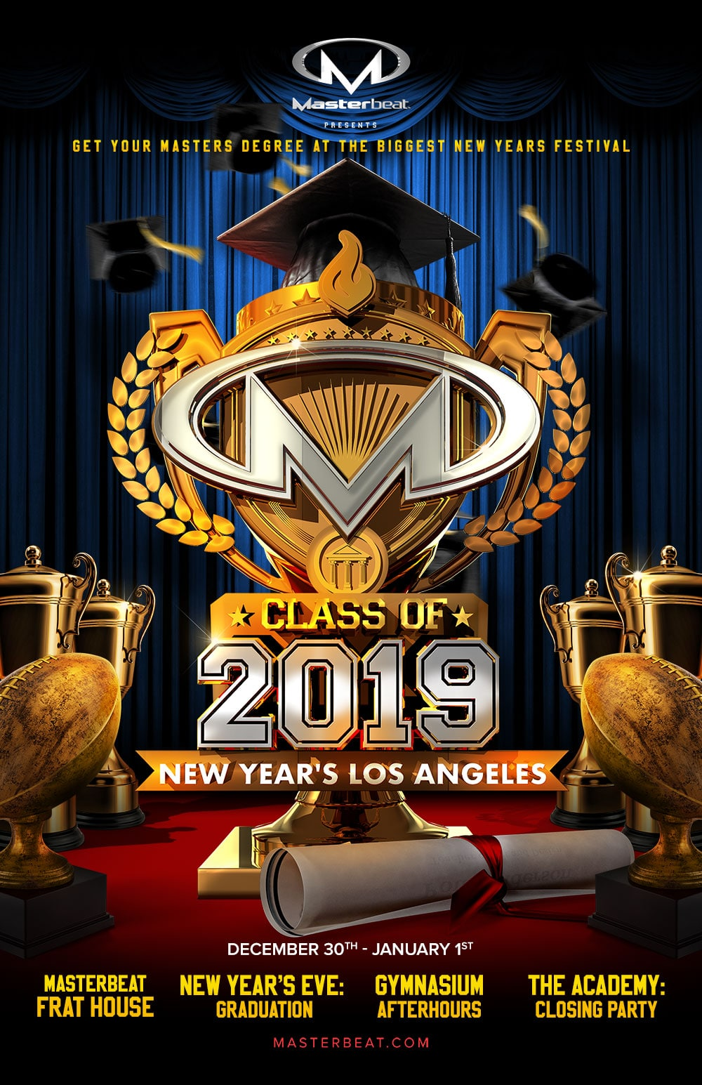 Masterbeat Class of 2019: New Year's Los Angeles - Masterbeat